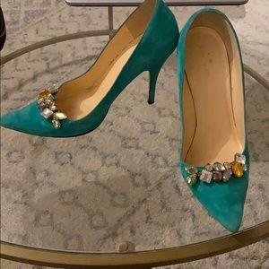 Kate Spade heels with jewel details